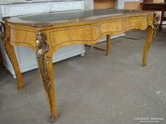Antik rézveretes íróasztal