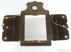 0L124 Fali bőrdíszmű tükör