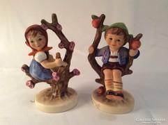 Hummel Goebel Fán ülő kisfiú és kislány #141 #142 TMK6 TMK7