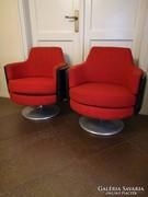 Retro fémtalpas fotel párban