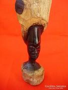Afrikai ébenfa különleges fej szobor,büszt