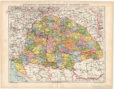 Magyarország közigazgatási, törv. és közl. térkép 1892