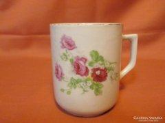Rózsás Zsolnay bögre, csésze
