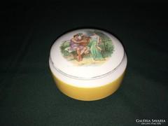 Ritka Kispest porcelán bonbonier