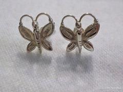 Pillangós ezüst fülbevaló 925