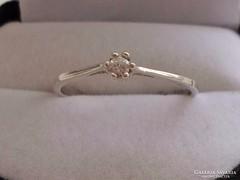 Szép brill csiszolású církon ezüstgyűrű