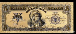 24 karátos arany bevonatú indian dollar