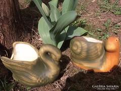 Kerti csiga-kaspó kerámia 17 cm