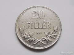 20 fillér-F.J. 1921!!! -UNC! ÍGY  RITKA!!!