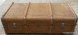 Antik vintage kétemberes koffer bőrönd utazó láda