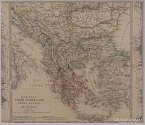 0L357 Antik acélmetszet térkép TÖRÖK BIRODALOM