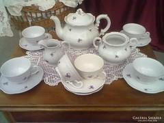 Zsolnay ibolyás teás   készlet