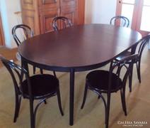 Hatszemélyes ebédlő asztal