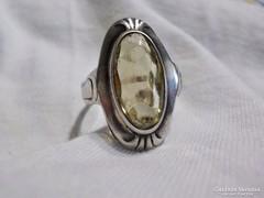 Régi köves ezüst gyűrű