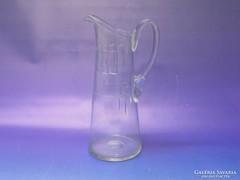 0L047 Régi szecessziós üveg vizeskancsó 29 cm