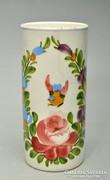 Nagyméretű Körmöcbányai madaras váza, 18cm