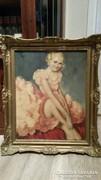 Gyönyörű antik festmény - Balerina