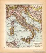 Olaszország térkép 1929, magyar nyelvű, régi
