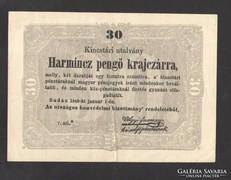 Harmincz pengő krajczárra 1849. Csillagos!! GYÖNYÖRŰ!!!