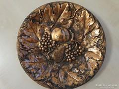 Bronz falitál gyümölcs mintával
