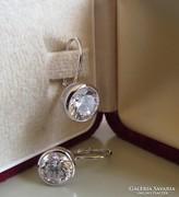 Ezüst button fülbevaló - patentzáras - nagyobb méret - új