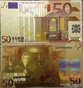 24 karátos arany bevonatú 50 Euro ÚJ