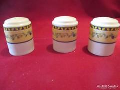 UV14 3 db porcelán fűszertartó 5 cm
