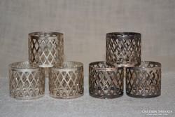 6 db áttört mintás ezüstözött szalvéta gyűrű ( DBZ 0073 )