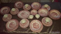 Angol porcelán étkészlet 6 főre (35 részes!!!)