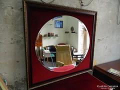 Elegáns antik fazettázott fali tükör