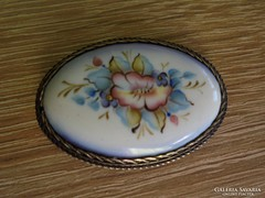 Festett porcelán régi bross