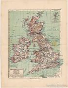 Nagy Brittania (Anglia, Írország) térkép 1892, német
