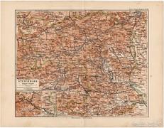 Stájerország térkép 1892, eredeti, német, régi
