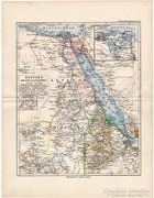 Egyitom, Darfur, Abesszínia térkép 1892, Afrika, német