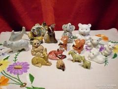 18 db mini porcelán és kerámia figura egyben