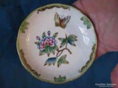Herendi porcelán Viktória mintás kis tálka/kínáló