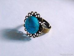 Nagyon szép,kerek türkiz gyűrű