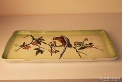Gránit kerámia tálca (papagáj faágon)