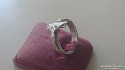 Ezüst Kereszt alakú apáca gyűrű
