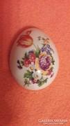 Hollóházi porcelán tojás bonbonier, gyűrűtartó teteje