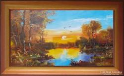 ---Eladó festmény -Aranyló Mártély----