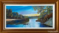 ---Eladó festmény- Tisza part-Kortárs remekmű