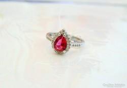 Gyönyörű pink köves,silver filed gyűrű