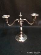 Ezüstözött fém gyertyatartó (gs0406)