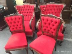 Neobarokk fotel és szék pár