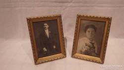 Asztali arany-fa fénykép képkeret pár