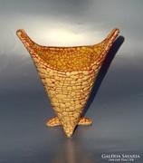 GORKA GÉZA sárga kaspó 1960'