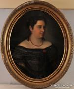 Ismeretlen művész: Női portré, 19. század