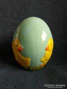 Kézzel készített és festett asztali kerámia tojás, 9 x 7 cm