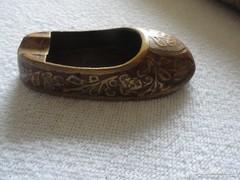 Réz cipőcske hamutartó